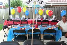 Kids - Parties: Thomas the Train / Ideas for a Thomas birthday party for a little boy.  Red, blue, train