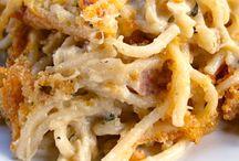 Chicken spaghetti cream sauce