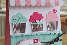 Cupcake / Minitortás és fagylaltos képeslapok