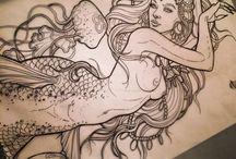 Tatuaże z syrenami