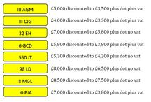 June Monthly Specials / numbers on special offer for the month of June