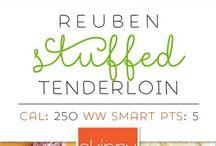 Ruben Stuffed Pork Tender Loin