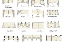 sketch of various window treatments