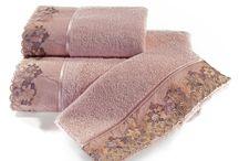 LALEZAR - luxusné uteráky a osušky / Stály a dekoratívny prvok, ktorý je viac než uterákom. Lalezar vytvorí príjemné miesto v každej kúpeľni, kde je používaný. Láka pôsobivo v harmónii svojich farieb a čipiek.