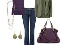 green purple grey beige cherry