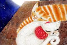 Chats, chats, chats ! / Jolies peintures de chats par des artistes abordant différents thèmes. / by Mary-Anne Aubry