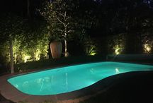 Lighting around pool