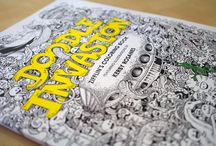 Doodle Invasion, A Crazy Coloring Book by Kerby Rosanes