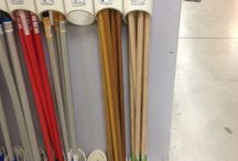 Hockey  / While walking through hardware store saw this and thought that this idea could be used to store all those hockey sticks in my garage that keep falling all over the place. / by Debra Steinke Brey