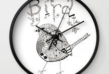 Society6 Wall Clocks ~ Support an Artist