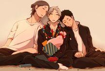 Best friends / Daichi Sawamura, Koushi Sugawara and kiyoko shimizu