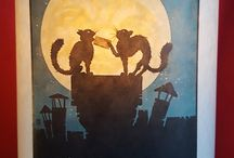 Cats & Dogs Handmade Lamps / lampshade posters cats dogs lamp handmade original light Lamps ikea