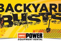 Backyard Busts Sweepstakes (Compact Power Equipment Rental) / They're not ugly. Some backyards just need a little love.  Submit your unsightly or unfinished backyard business for a chance to win a $100 Home Depot gift card weekly, or a grand prize of a FREE VIP Rental Experience. **Sweepstakes ended on July 29, 2016.