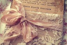 Vintage || Wedding / All kinds of beautiful old stuff used for decoration. Also old colors like old pink and grayish green.