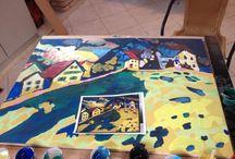 ASSISTÊNCIA DE CENOGRAFIA  - Kandinsky / Obra interativa para exposição do Kandinsky no CCBB.
