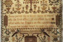 EARLY 19TH CENTURY SILK WORK HOUSE SAMPLER BY HESTER KINGHAM 1832 / Antique sampler