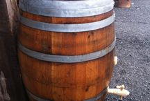 Oak Barrel Water Butts / A selection of wine, whiskey and sherry barrels converted into beautiful water butts for your garden