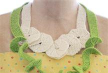 Crochet & knit necklaces
