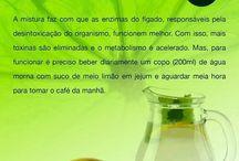 Saúde água c limão