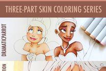 Drawing skin tones