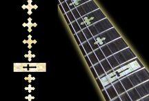 """Cross / inlay sticker """"Cross"""" guitar/ukulele decals"""