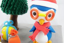 Children Clay Art for Christmas / Christmas themed clay art made for children