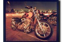 Harley Davidson Motorcycle Wall Decor Art Print Posters