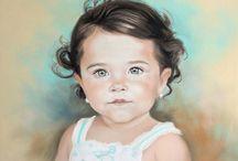 Graciela Bombalova / Pastel portraits