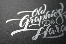 Calligraphy, Lettering, Type