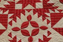 Red quilts