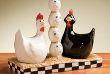 Kitchen & Chicken Art / We can't get enough of these adorable chicken collectibles and kitchen art pieces. / by Gold'n Plump