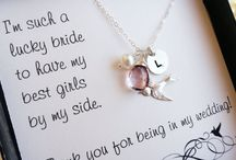 Bridesmaid Gift Inspiration / Your bridesmaids help you through so much leading up to your wedding and you want to find them the perfect gift, but sometimes this can be tricky.  Take a look at our suggestions here.   Monet Events www.monetevents.co.uk