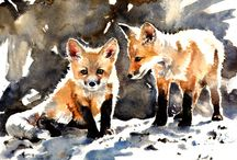 FOXES!! / by Sarah Collins