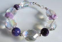 Armbanden / Armbanden met edelsteen, parels en glas met zilver of goud