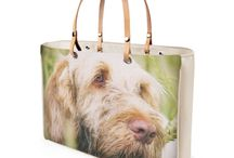 HANDBAGS - ITALIAN SPINONE / Award winning and guaranteed to turn heads, my Italian Spinone handbags are beautifully made and have a luxury faux suede inner lining. Your handbag comes in the finest Italian leather or patent vinyl and you have a choice of 2 sizes and 4 colours. If you cannot see the gift you are looking for, please contact me to place a request via contactheidiannemorris@gmail.com.