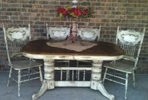 Kitchen table and chairs redo