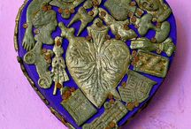 Ω Coeurs ! / Représentation de Coeur et d'ex voto religieux ou pas, sacré coeur