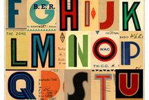 words + letters / cool typography and inspiring words
