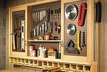 Jim's workshop storage ideas / by Peggy Langford