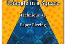 triangle in square quilt
