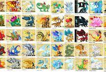 Dragon City / Lots of dragons.