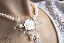 Свадебные колье, браслеты и серьги