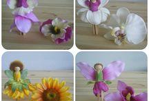 Panenka z květin