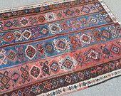 Turkish Kilim rug / Turkish handmade kilim rug. Turkish carpet. Vintage kilims.