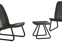 Side Table With Chairs 3 Piece Set Patio Furniture Outdoor Garden Graphite New