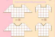 schéma skladania štvorcov
