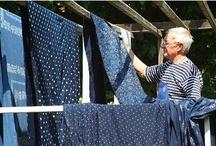 Indigo Hungarian Linen for the Home