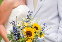 For Taylor / summer wedding, sunflowers and wild flowers, pastel colours, pops of yellow