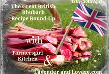 The Great British Rhubarb Recipe Round-Up 2015 / Recipes using rhubarb, curated by Janice Pattie of Farmersgirl Kitchen and Karen Burns-Booth of Lavender and Lovage / by Farmersgirl Kitchen