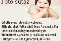 Foto súťaž k MDD 2014 / Odfoťte svoju ratolesť s výrobkom z BIOnatural.sk. Fotku zdieľajte na Facebooku, Pintereste alebo Instagrame s hashtagom #bionatural, alebo nám ju pošlite na náš email marketing@bionatural.sk. Fotky posielajte do 1. júna 2014, následne budeme hlasovať o najkrajšiu fotku. Víťazná fotka získa zľavový kupón v hodnote 25€.